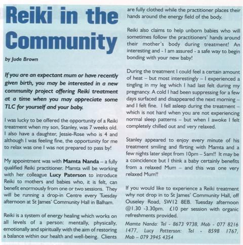 Family SouthWest article Reiki mothers, pregnancy, babies, Children October 2004