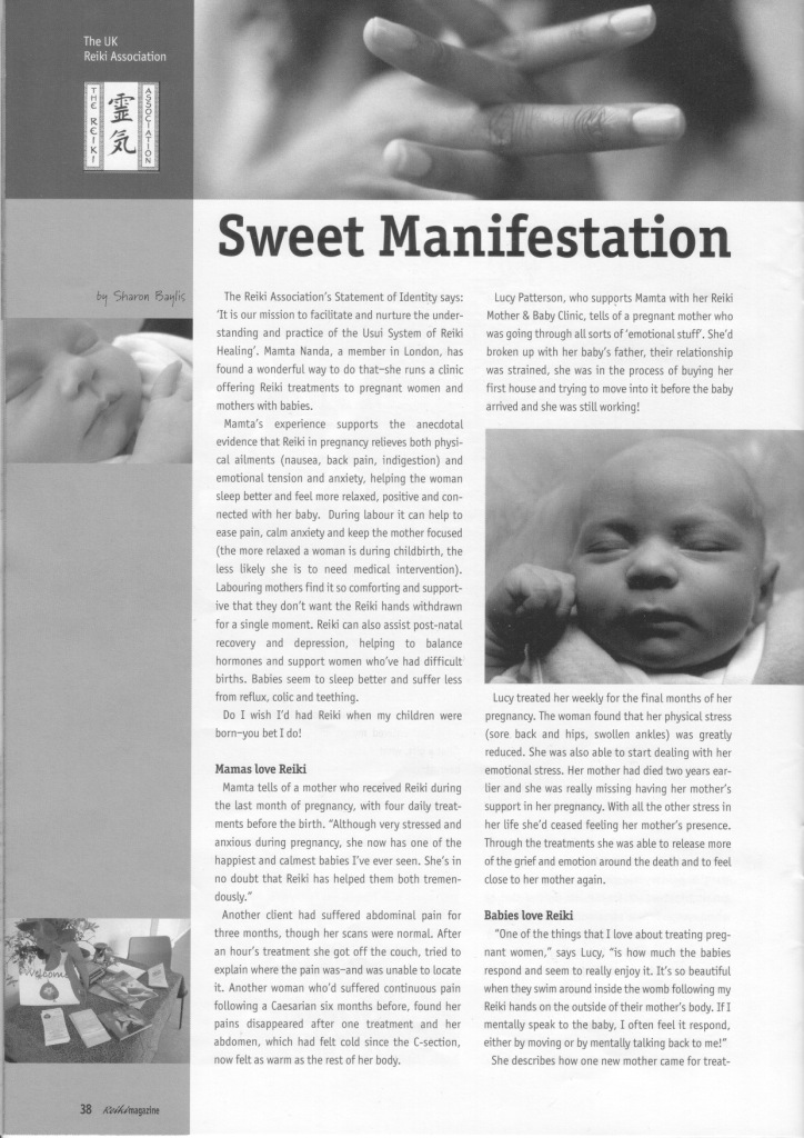 Reiki Magazine article mothers and babies 3