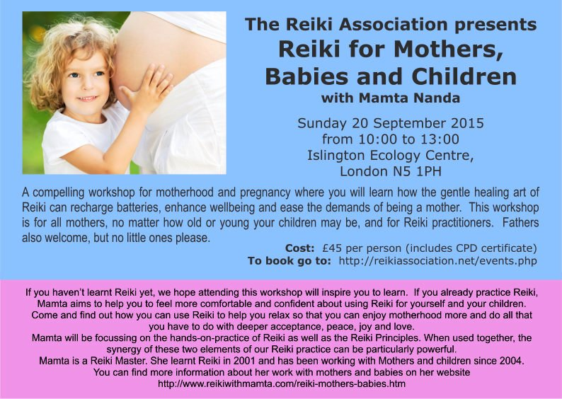 Reiki for Mothers workshop