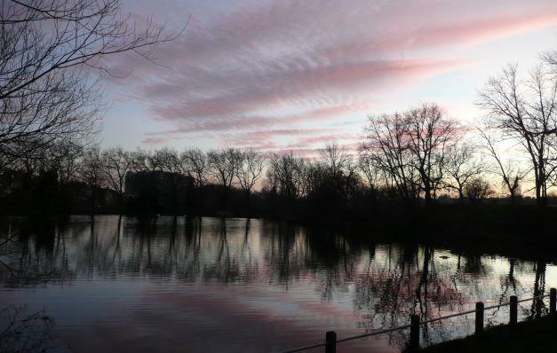 Sunset end 2019, Hampstead Heath